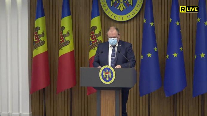 Briefing de presă susținut de prim-ministrul Aureliu Ciocoi după ședința Comisiei pentru Situații Excepționale din 1 aprilie 2021