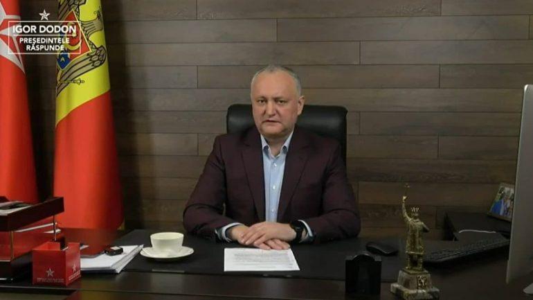 """Agenda - Ediția """"Igor Dodon răspunde"""", din 14 mai 2021"""