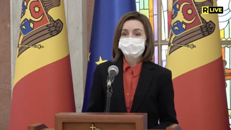 Președința țării Maia Sandu face declarații de presă, după ședința CSS