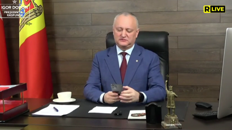 """Ediția """"Președintele PSRM Igor Dodon răspunde, din 26 martie 2021"""""""