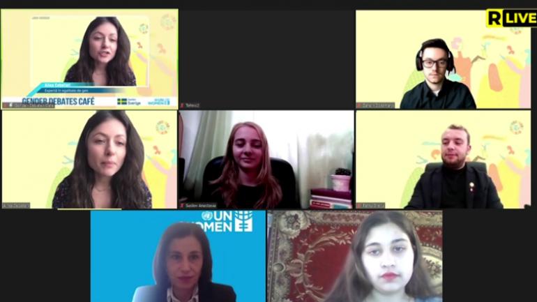 UN Women Moldova desfășoară o nouă ediție Gender Debates Café în contextul forumului Generația Egalității: #YOUthdemand