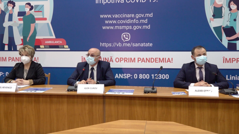 Conferința de presă privind procesul de vaccinare împotriva COVID-19 în Republica Moldova