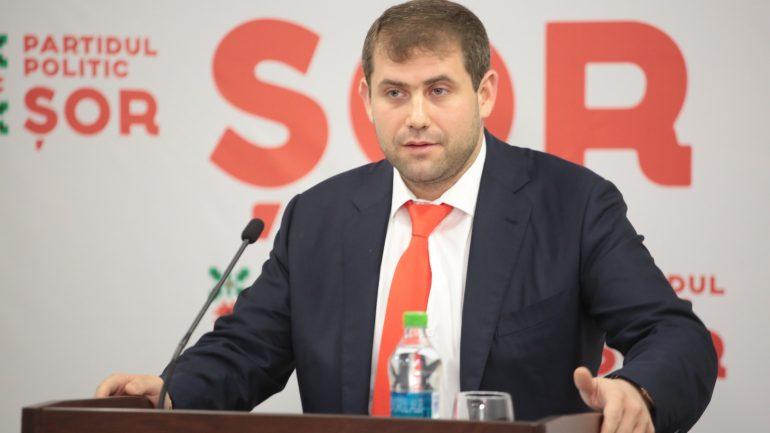"""Președintele Partidului """"ȘOR"""", Ilan Șor, susține un briefing de presă"""