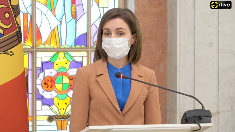 Cum a comentat Maia Sandu protestele desfășurate luni în fața Comisiei Electorale Centrale