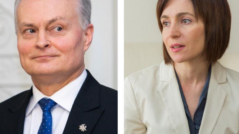 Agenda - Declarații de presă ale președinților Maia Sandu și Gitanas Nauseda