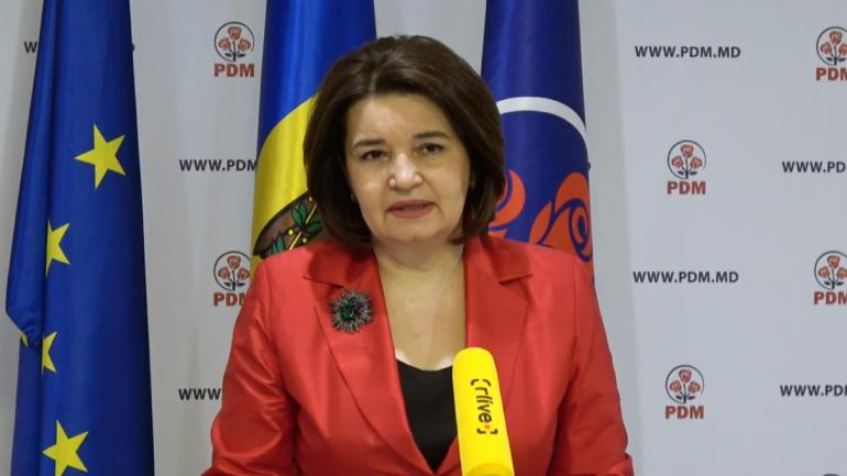 Vicepreședintele PDM, Monica Babuc, prezintă propunerile partidului privind viziunea pe domeniul Educației și Culturii