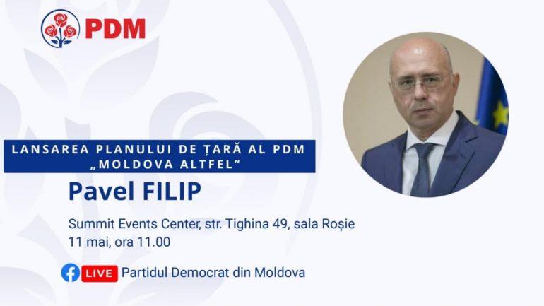 """Agenda - Partidul Democrat din Moldova prezintă Planul de țară """"Moldova Altfel"""""""