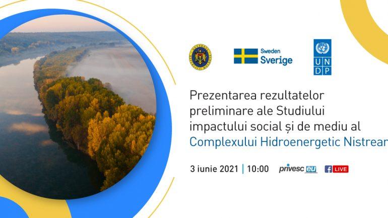 Rezultatele preliminare ale Studiului impactului social și de mediu al Complexului Hidroenergetic Nistrean