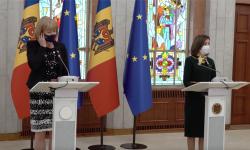 Declarații de presă după întrevederea președintelui Maia Sandu cu ministrul britanic pentru Vecinătatea Europeană, Wendy Morton