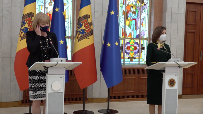 Agenda - Declarații de presă după întrevederea președintelui Maia Sandu cu ministrul britanic pentru Vecinătatea Europeană, Wendy Morton