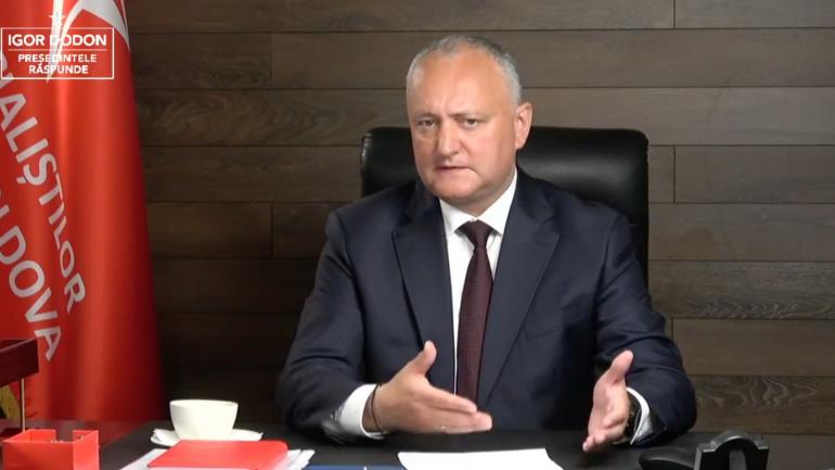 """O nouă ediție a emisiunii """"Igor Dodon răspunde"""", din 28 mai 2021"""