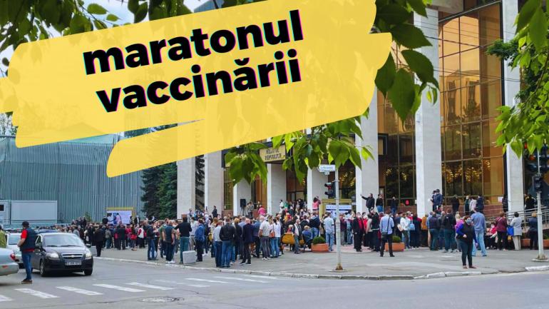 NO COMMENT Oamenii fac cozi la maratonul de vaccinare de la Palatul Republicii