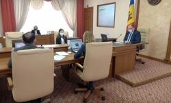 Ședința Cabinetului de Miniștri, prezidată de premierul interimar Aureliu Ciocoi