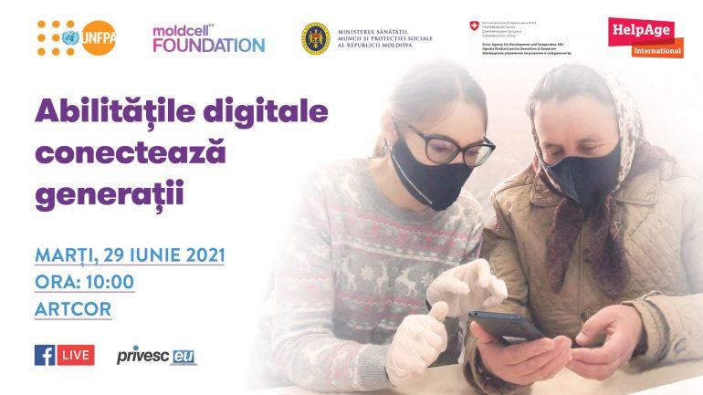 """""""Abilitățile digitale conectează generații"""" – lansarea unei noi faze a Programului intergenerațional de reducere a decalajului digital dintre tineri și vârstnici"""