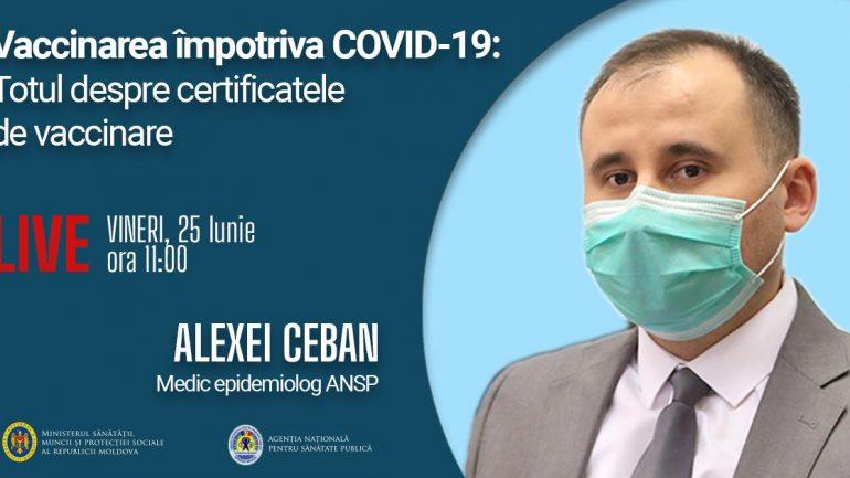 Vaccinarea împotriva COVID-19: Totul despre certificatele de vaccinare