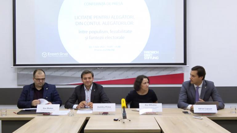 """Conferința """"Licitație pentru alegători, din contul alegătorilor: între populism, fezabilitate și fantezii electorale"""""""