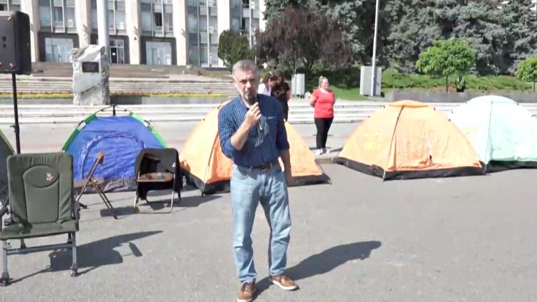 """Declarațiile liderului Partidului Regiunilor, Alexandr Kalinin, după ce a anunțat greva foamei în semn de susținere pentru angajații """"Căii Ferate a Moldovei"""""""