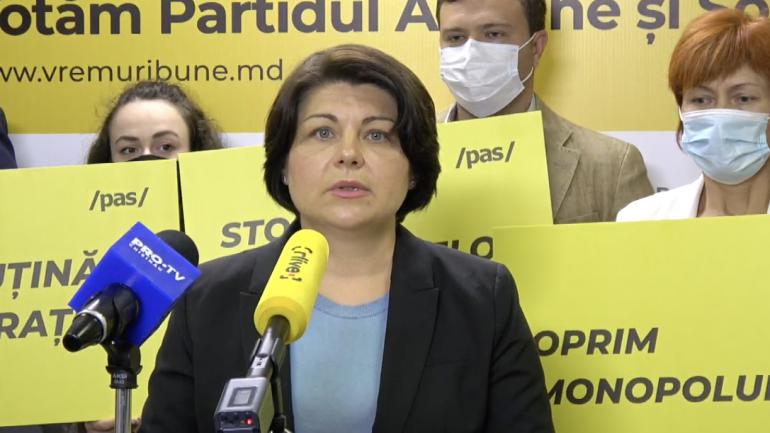 Partidul Acțiune și Solidaritate (PAS) susține o conferință de presă