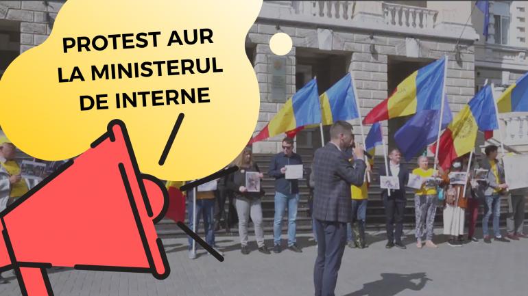 Protest organizat de Alianța pentru Unirea Românilor la Ministerul Afacerilor Interne