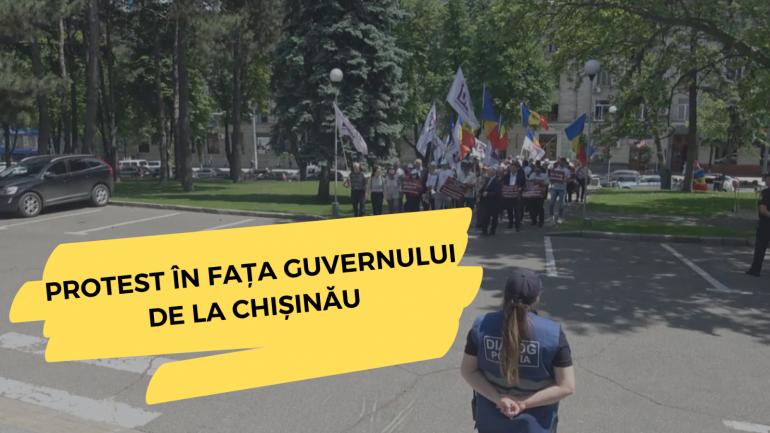 Protest în fața Guvernului de la Chișinău