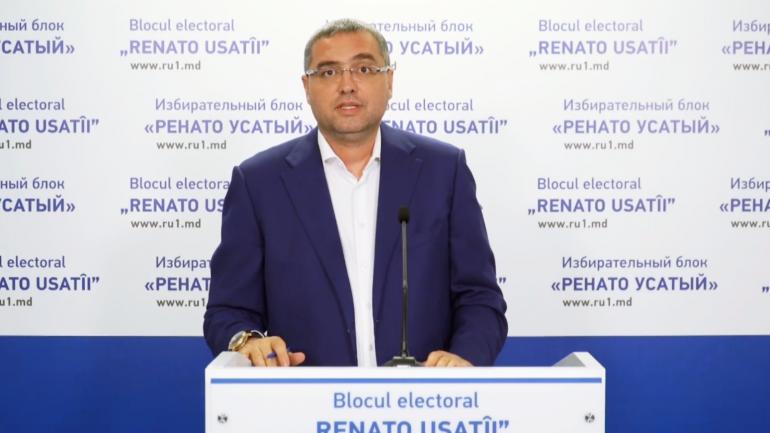 """Liderul Blocului electoral """"RENATO USATÎI"""" susține o conferință de presă"""