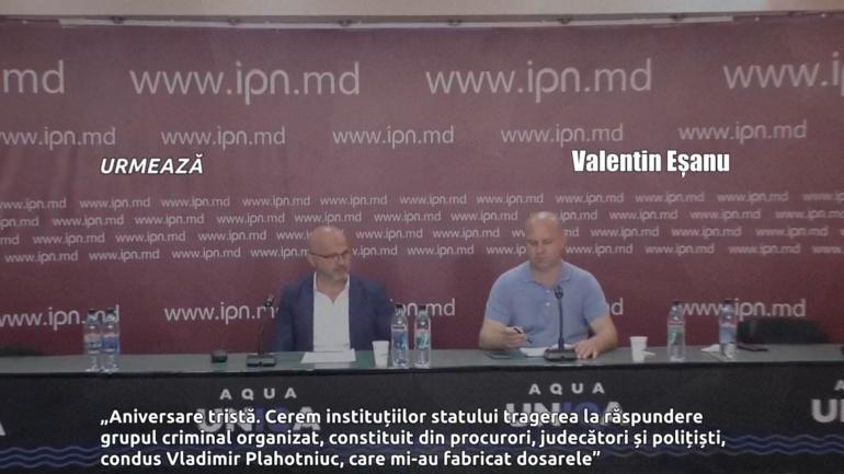 Conferință de presă susținută de omul de afaceri Valentin Eșanu
