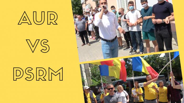 SCANDAL! Alianța pentru Unirea Românilor, întâmpinată cu protest de Garda tânără a socialiștilor