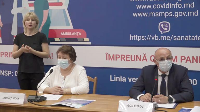 ANSP susține o conferință de presă privind procesul de vaccinare împotriva COVID-19 în Republica Moldova