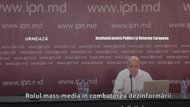 """Dezbaterea publică """"Rolul mass-media în combaterea dezinformării"""""""