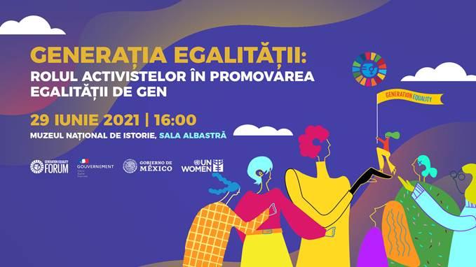 """Eveniment organizat de UN Women Moldova cu genericul """"Generația egalității: Rolul activistelor în promovarea egalității de gen"""""""