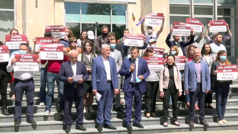 Un nou protest în fața Guvernului de la Chișinău