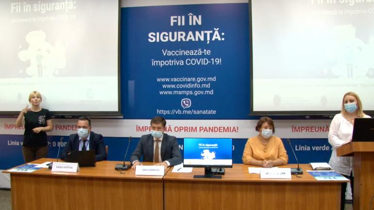 ANSP prezintă noi informații privind procesul de vaccinare împotriva COVID-19 în R. Moldova