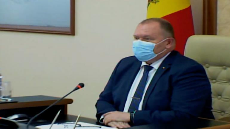 Ședința Cabinetului de miniștri, prezidată de prim-ministrul interimar Aureliu Ciocoi