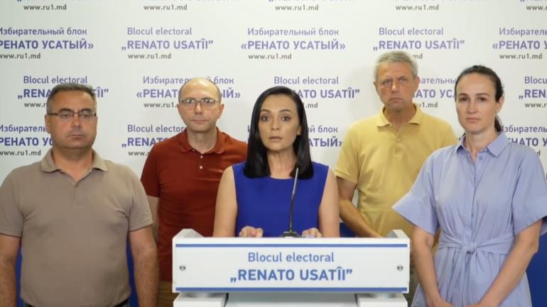 """Blocul electoral RENATO USATÎI prezintă """"probe care demonstrează coruperea alegătorilor"""""""
