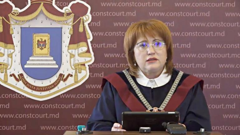 Briefing de presă susținut de Președintele Curții Constituționale, Domnica Manole
