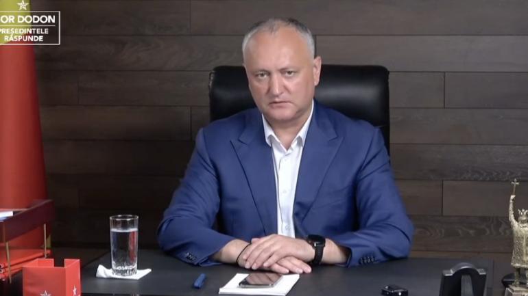 """O nouă ediție a emisiunii """"Igor Dodon răspunde"""", în ajunul alegerilor parlamentare anticipate"""