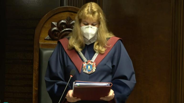 Briefing de presă susținut de președintele ad-interim al Curții Constituționale, Liuba Șova