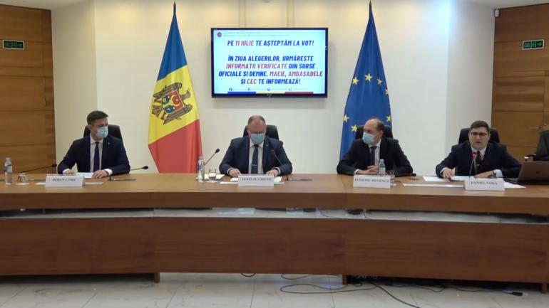 Conferința de presă comună a MAEIE și CEC privind alegerile parlamentare anticipate