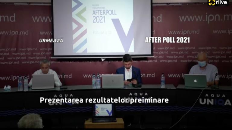 Prezentarea rezultatelor PRELIMINARE ale sondajului after poll în ziua alegerilor parlamentare anticipate 2021