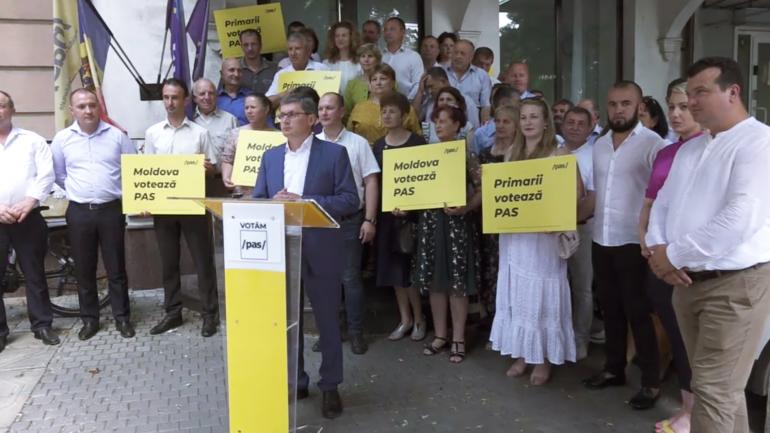 """Conferință de presă cu tema """"Primarii îndeamnă Moldova să voteze PAS"""""""