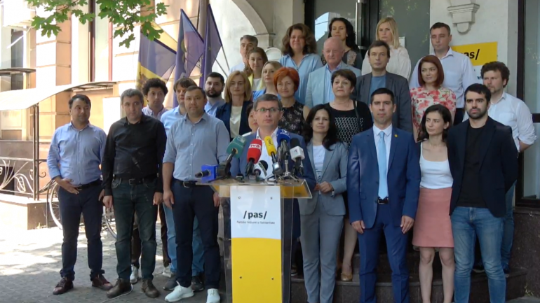 Conferință de presă susținută de Președintele Partidului Acțiune și Solidaritate (PAS), Igor Grosu