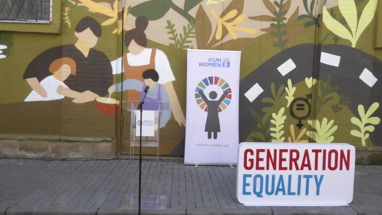 """Evenimentul de lansare al muralului """"Timpul pentru egalitate este acum"""""""