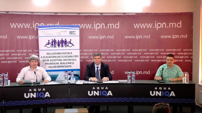 """Conferința """"Incluziunea socială a alegătorilor cu dizabilități între așteptări, obstacole, promisiuni, realizări și valori împărtășite"""""""