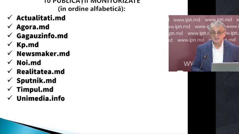 Prezentarea raportului nr. 4 de monitorizare a comportamentului editorial al presei online în perioada campaniei electorale