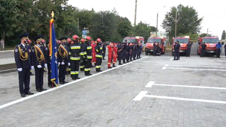 Inaugurarea unui nou Detașament de Salvatori și Pompieri în orașul Anenii Noi. Participă și prim-ministrul Natalia Gavrilița