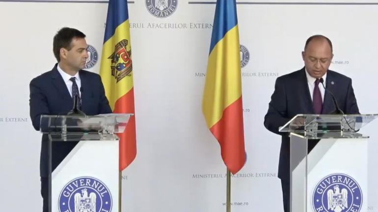 Conferință de presă susținută de Ministrul Afacerilor Externe și Integrării Europene al Republicii Moldova, Nicu Popescu și Ministrul Afacerilor Externe al României, Bogdan Aurescu