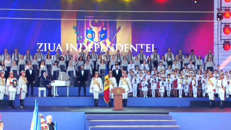 Ceremonia dedicată împlinirii a 30 de ani de la proclamarea independenței Republicii Moldova