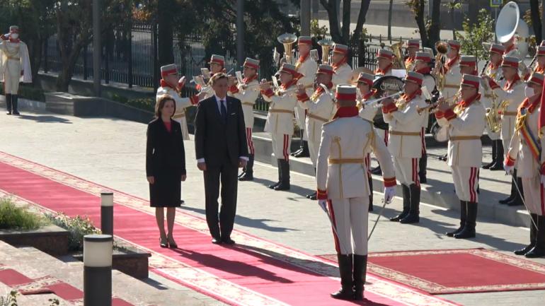 Ceremonia oficială de întâmpinare a Președintelui Republicii Slovenia, Borut Pahor
