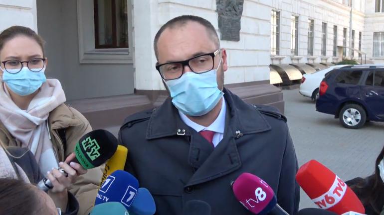 Sergiu Litvinenco, ministrul Justiției, susține declarații de presă în privința candidaților propuși pentru funcția de procuror general interimar