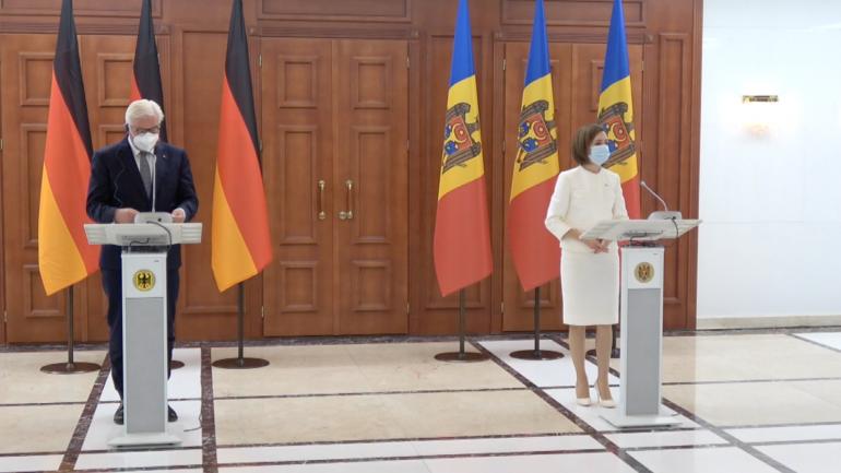 Declarații de presă susținute de Președintele Republicii Federale Germania, Frank-Walter Steinmeier, și Președintele Republicii Moldova, Maia Sandu